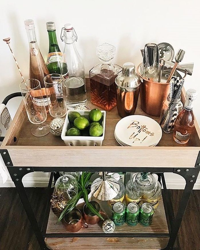 """Crate and Barrel on Instagram: """"We believe in achievable resolutions. Can we suggest finally outfitting the bar cart of your dreams? Bottoms up! 🥂🎉 📸: @styleyourwild"""""""