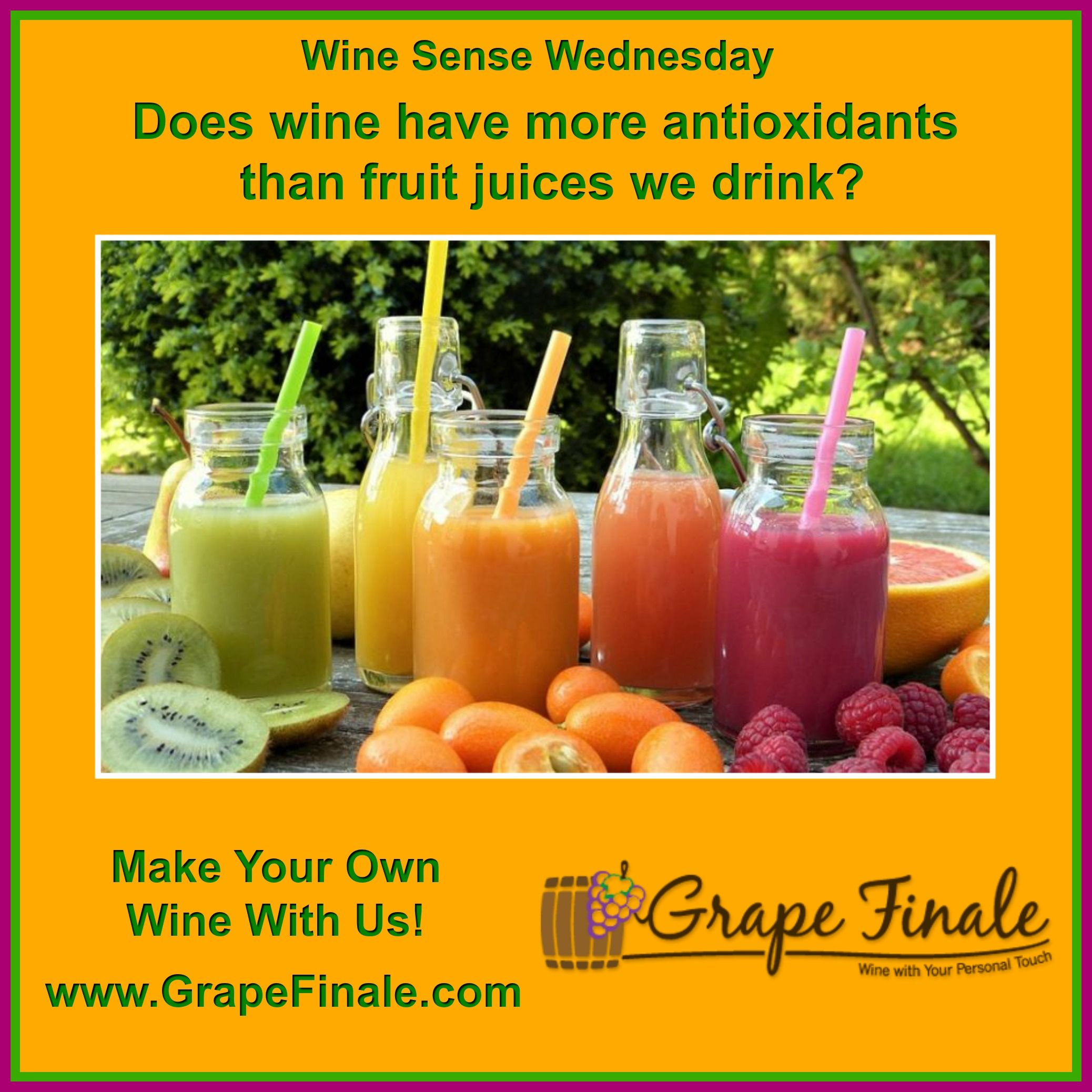 To Get The Same Amount Of Antioxidants From A Glass Of Wine You Need To Drink 20 Glasses Of Apple Juice Or Seven Glasses Of O Grapes Grape Uses Antioxidants
