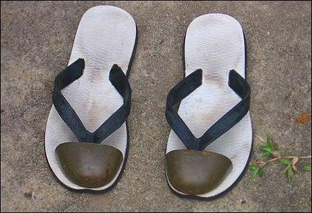 Steel Toe Flip flops. Actually really