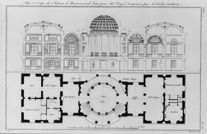 Charles De Wailly Architectural Floor Plans Architecture Elevation Elevation Drawing