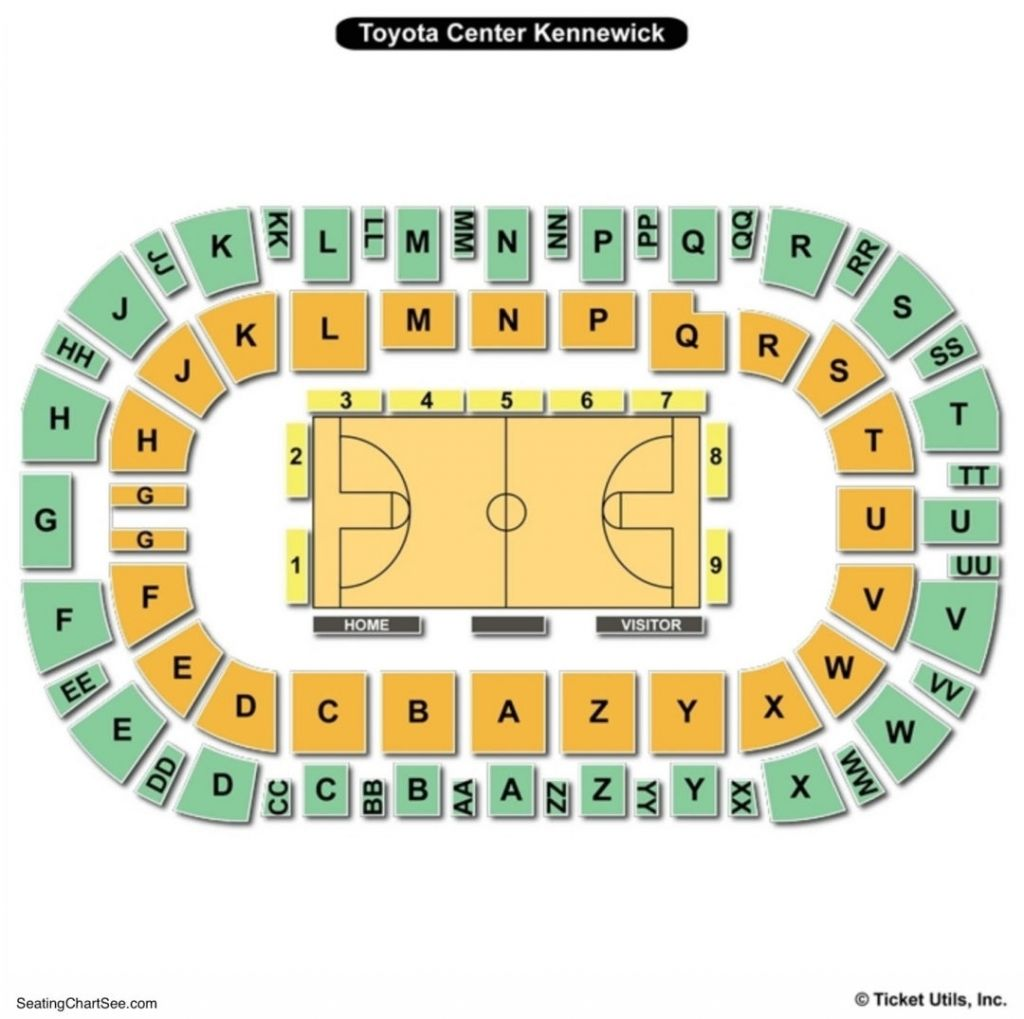 The Amazing Toyota Center Kennewick Seating Chart Seating Charts Kennewick Toyota