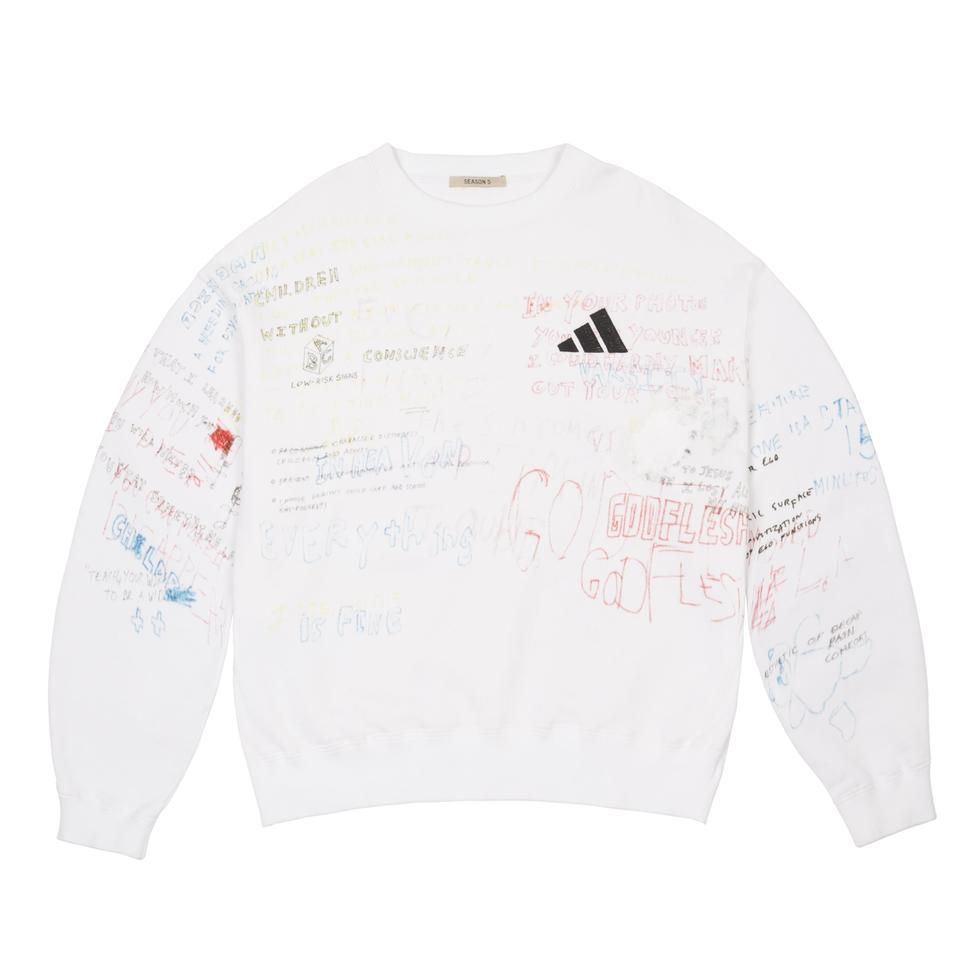 Adidas T shirts Adidas Itasca Crew Sweater | Blue White Tops