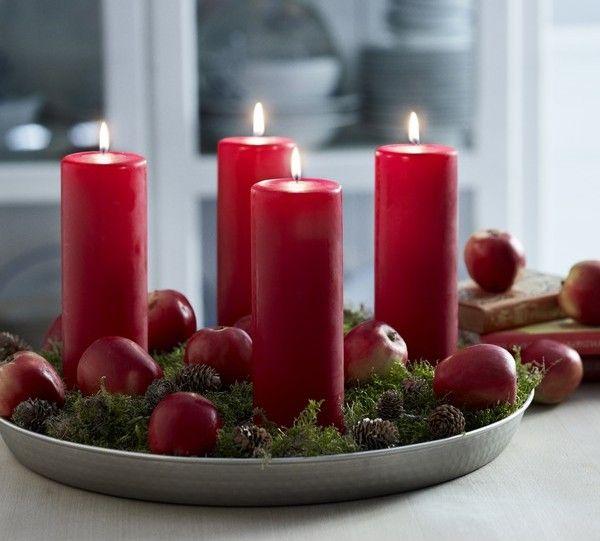 rote kerzen weihnachten tischdeko weihnachten pinterest weihnachten advent und kerzen. Black Bedroom Furniture Sets. Home Design Ideas