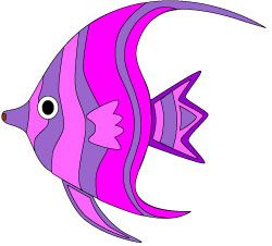 pretty colorful tropical fish clip art in shades of purple and rh pinterest com tropical fish clipart free tropical fish clip art free