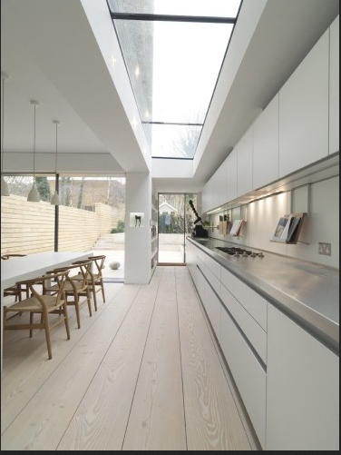nice kitchen - wooden floor