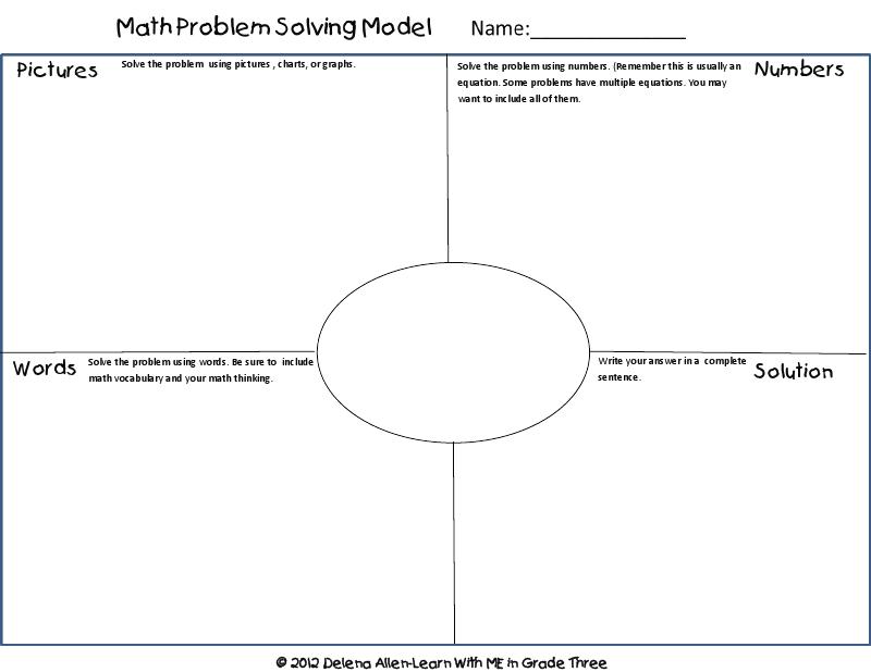 math problem solving model freebie/TASK sheet @Pamela Harrah Massey ...