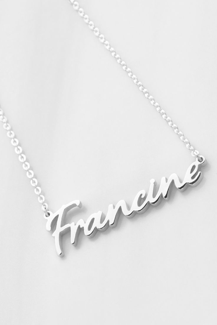 Cursive Personalized Name Necklace | Baby shower ideas ...
