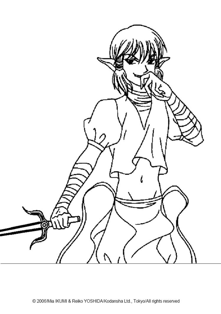 Tokyo Mew Mew Coloring Pages Kish Alien Lackey Tokyo Mew Mew