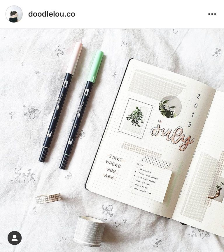 July Bullet Journal Inspiration - Rae's Daily Page