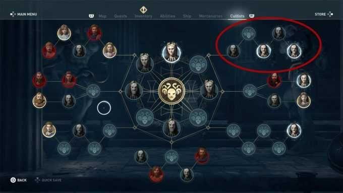 Entdeckt und tötet alle Kultisten in Assassins Creed
