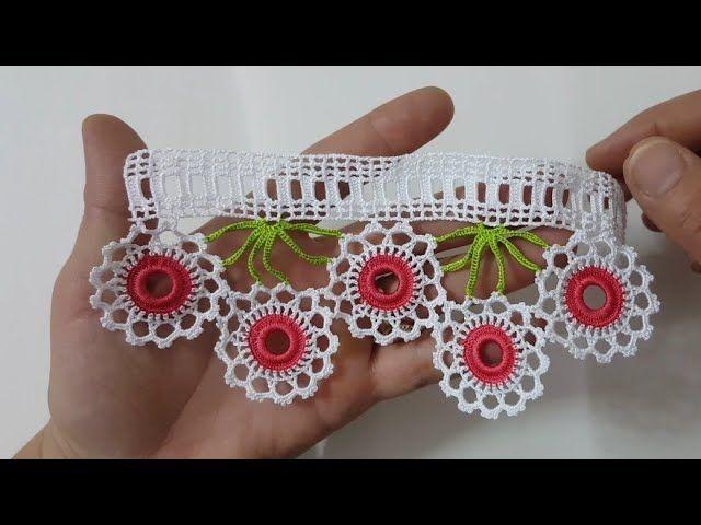 Halkalı Çeyizlik Havlu Kenarı Modeli Yapılışı Türkçe Videolu