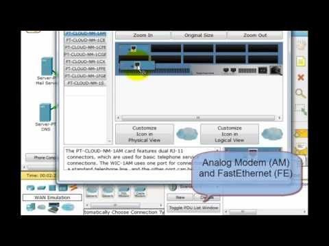 Packet Tracer - Cable Modem, DSL and Dialup Configuration - YouTube