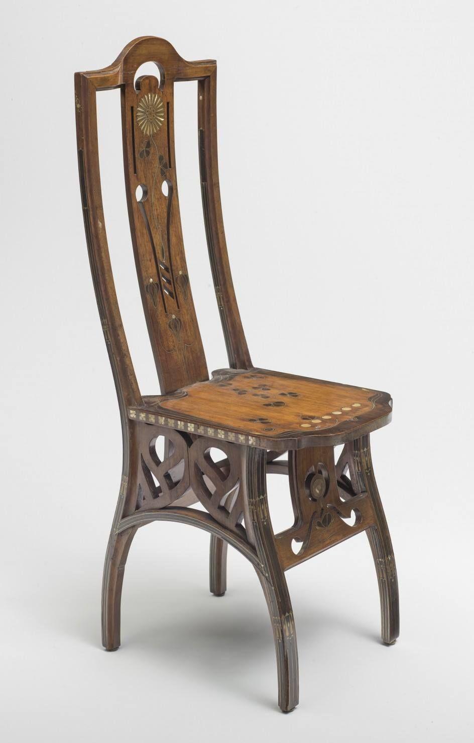 Chaise Style Art Nouveau eugenio quarti (1867-1929) - chaise, vers 1898 silla de