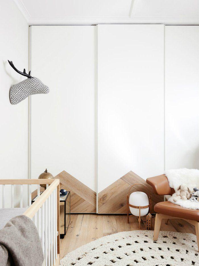 Skandinavisches Babyzimmer das Weiß der Unschuld