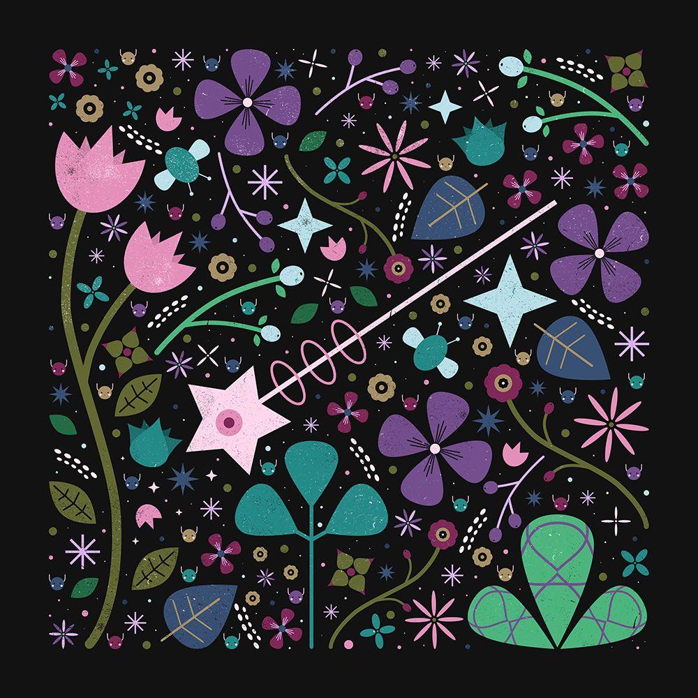 Carly Watts Art & Illustration: Magic Blooms #illustration #magicwand #flowers