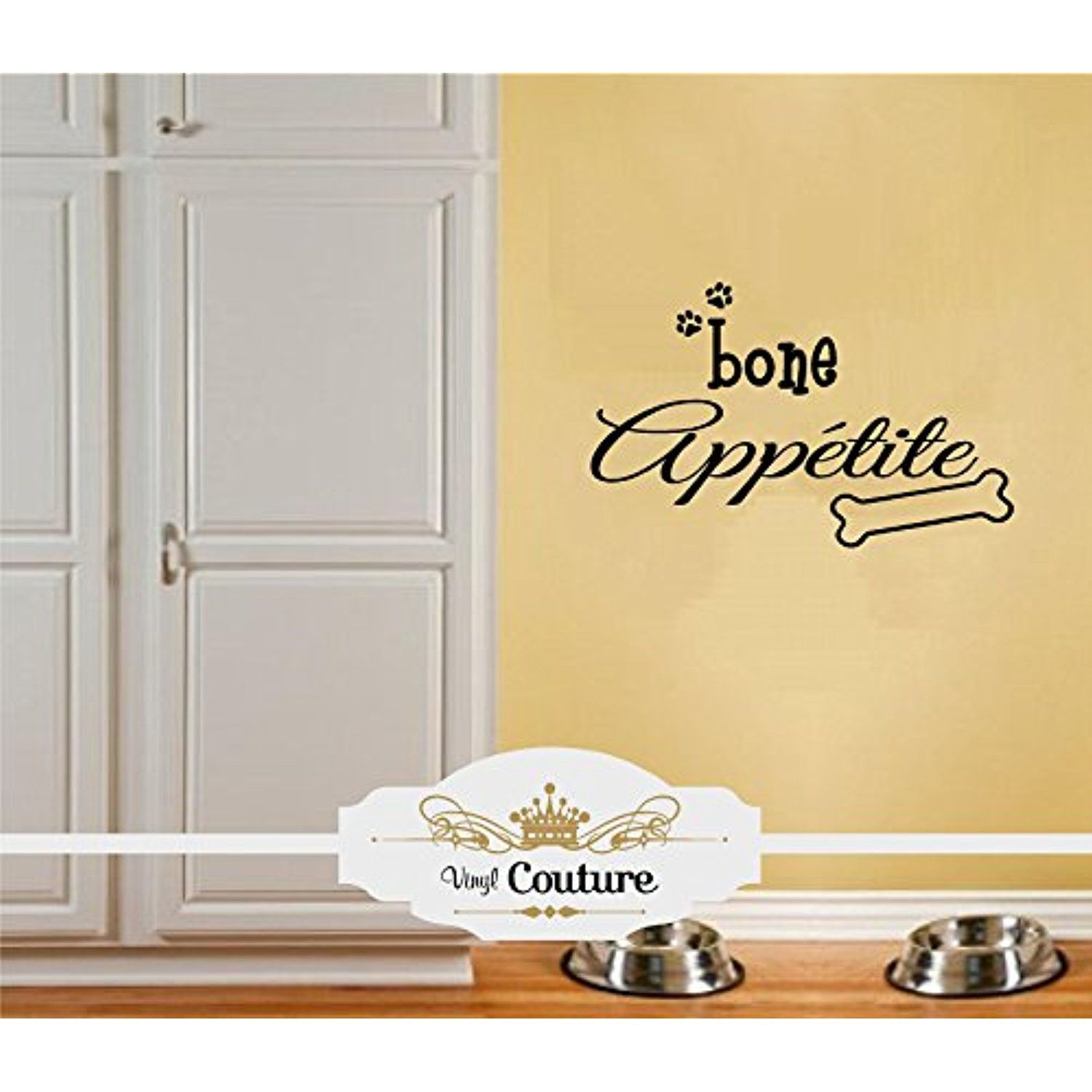 Bone Appetite Dog Dinner Vinyl Wall Art vinyl wall lettering words ...