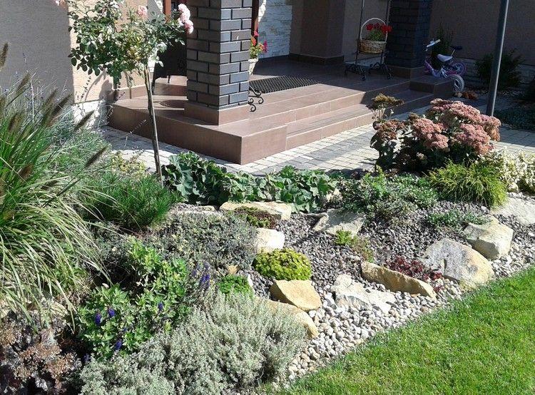 steingarten-anlegen-bodendecker-splitter-schicht | garten, Hause und Garten