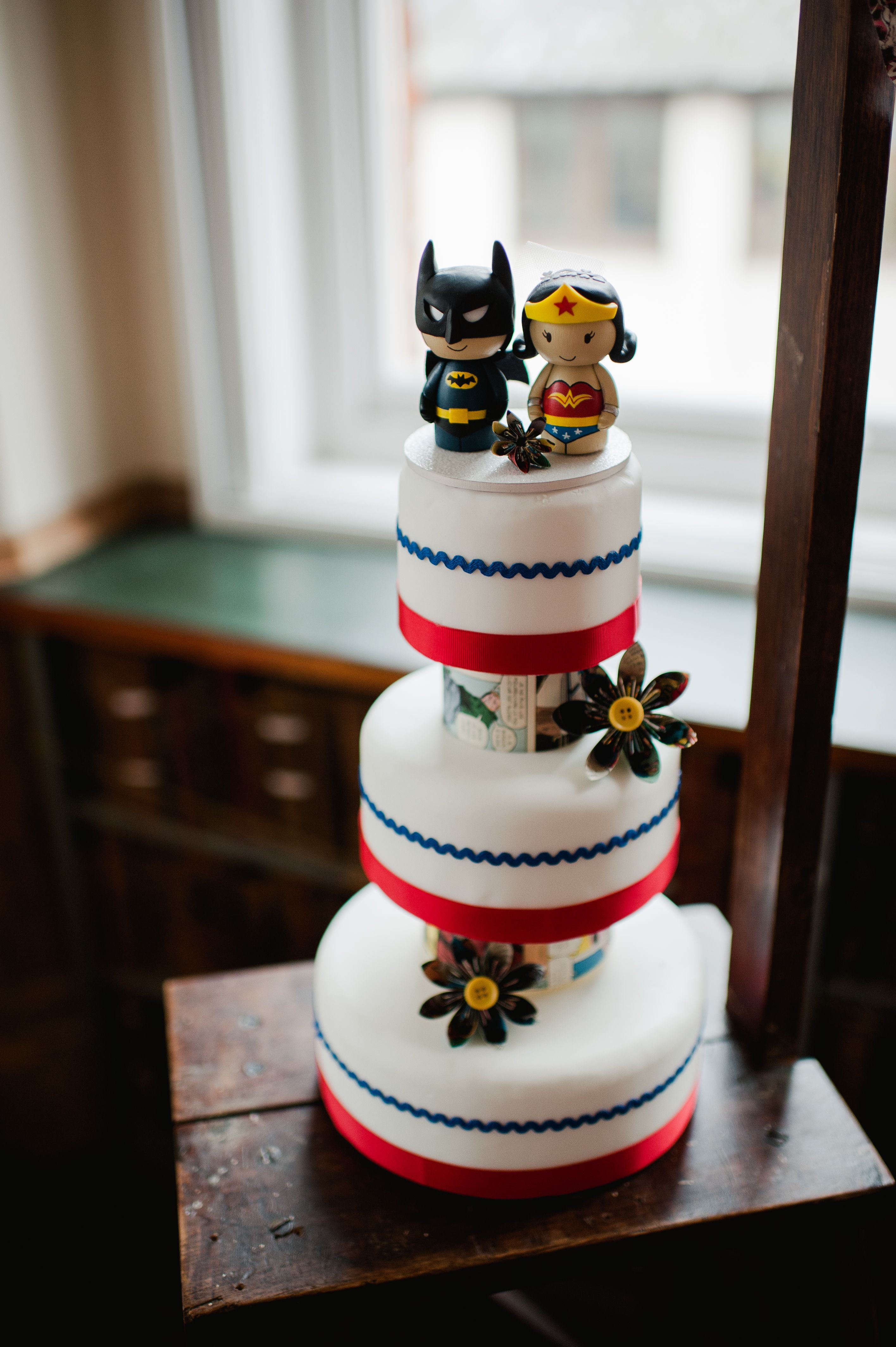 Geek Comics Inspired Wedding Cake By Http Www Frenchmade Co Uk Toppers Https Facebook Genefyplayground