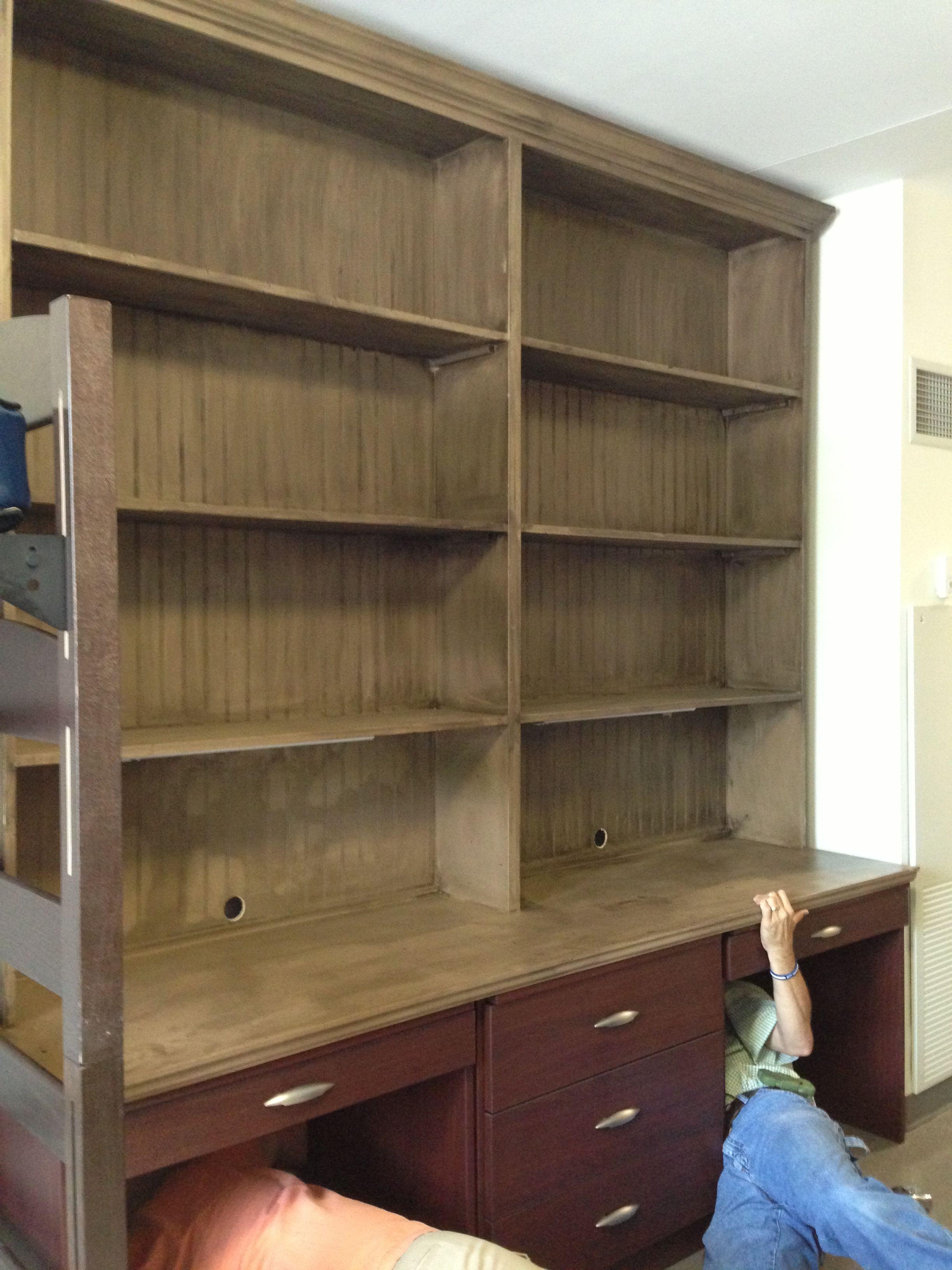 Dorm Room Custom Made Furniture To Fit Snuggly On Top Of The Desk, Dresser  · Do HomeworkOle MissDorm ...
