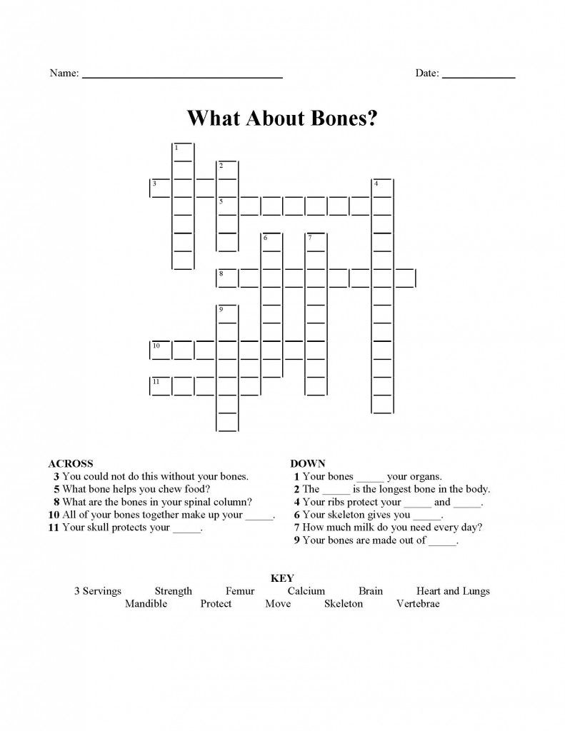 Workbooks genki 2 workbook answers : What About Bones Crossword Puzzle | Western Dairy Association ...