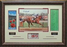 Secretariat 1973 Kentucky Derby Autographed Photo Framed