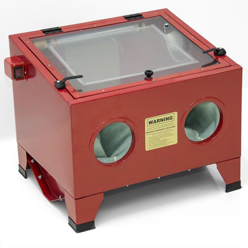 25 Gallon Sandblast Cabinet Bench Top Air Sand Blaster Sand Blast ...
