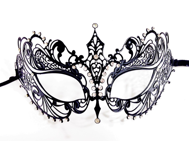 Halloween Mask Metal Laser cut Venetian Masquerade Mask costume Halloween Party