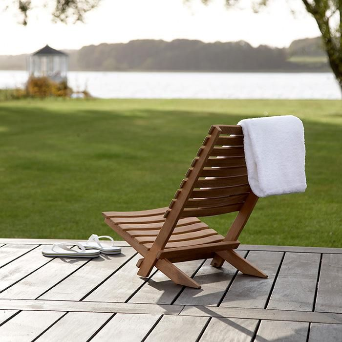 High Low The Folding Wood Beach Chair Strandstuhl Strandstuhl