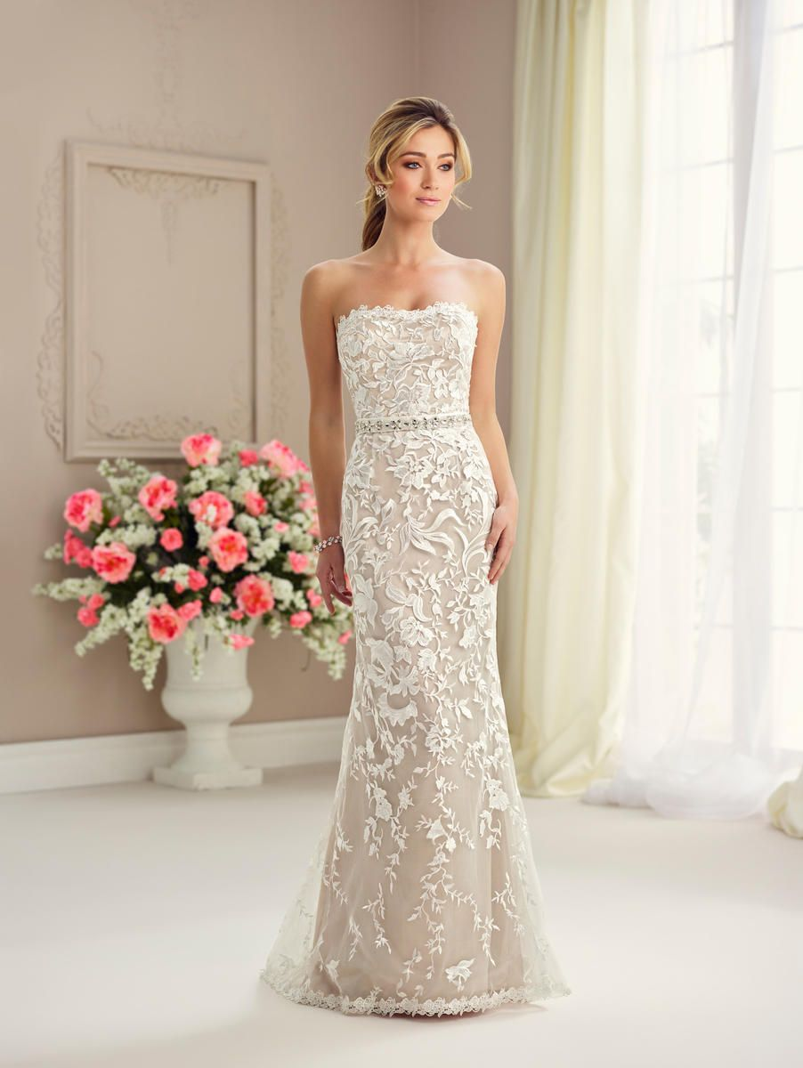 a0779618fd1b Check out the deal on Enchanting by Mon Cheri 217125 Wedding Dress with  Detachable Skirt at French Novelty