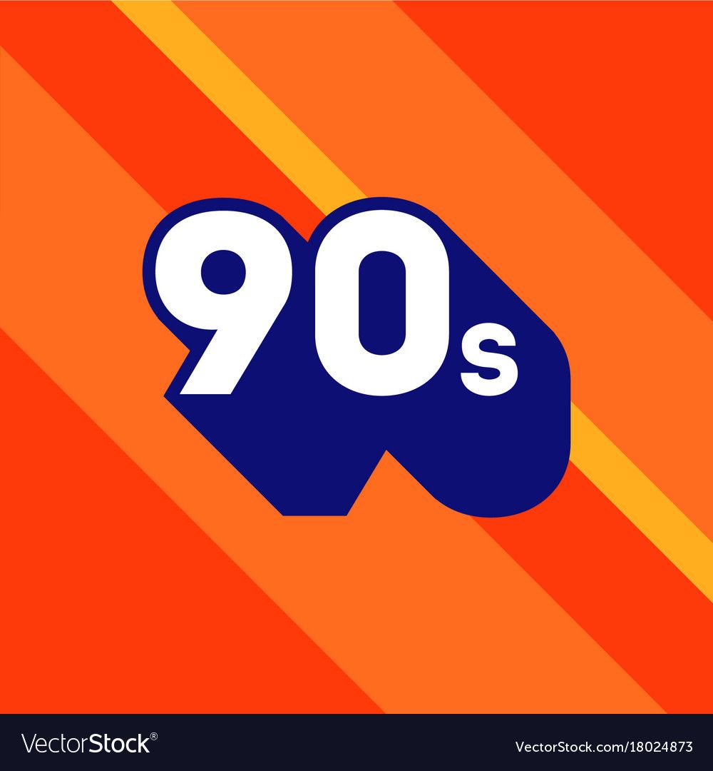 90s Logo Design 1990s Sign With Long Shadow Number Ninety Vector Element Download A Free Preview Or High Quality Adobe Illustra 90s Logos Logo Design Logos