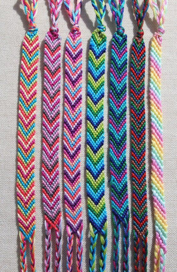 Chevron Friendship Bracelet/Candy Stripe Bracelet/String Bracelet/Knotted Bracelet