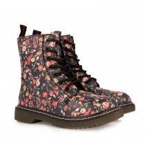oferta especial nuevo diseño venta barata del reino unido Botas Militar de Niña Flores   Zapatos para niñas, Zapatos de moda