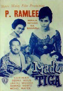 Malay Movie poster - P. Ramlee 'Madu Tiga'   Vintage ...