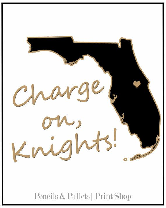 UCF Print Charge On 8x10 Print UCF Knights by PencilsAndPallets