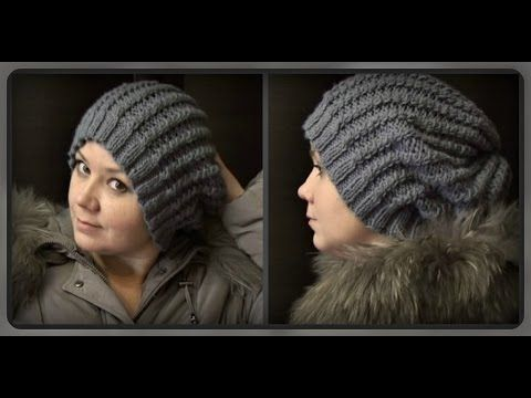 теплая зимняя шапка вязание крючком для начинающих Warm Winter