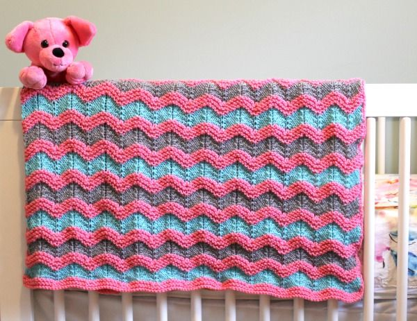 Knitting Pattern For Classic Ripple Baby Afghan Crafty Knitting