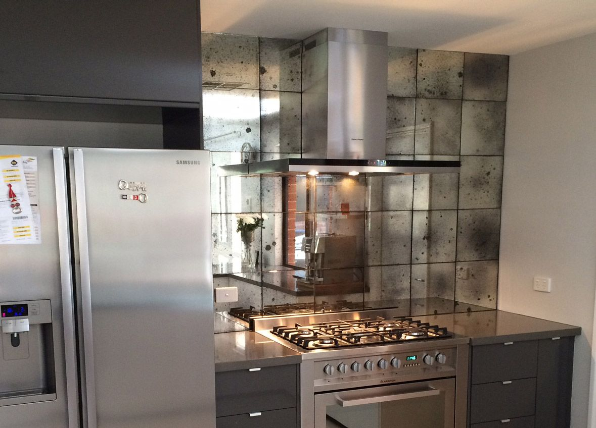 Kitchen splashbackfeature wall in toughened antique mirror kitchen splashbackfeature wall in toughened antique mirror brixton finish amipublicfo Choice Image