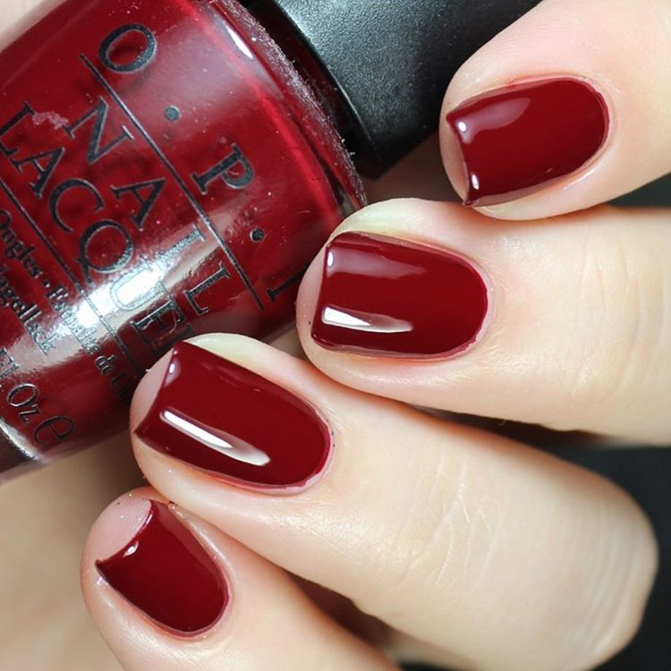 Opi Quarter Of A Cent Cherry Dark Red Nail Polish Lacquer Clic Y Shade Nails Manicure Nailvarnish Notd