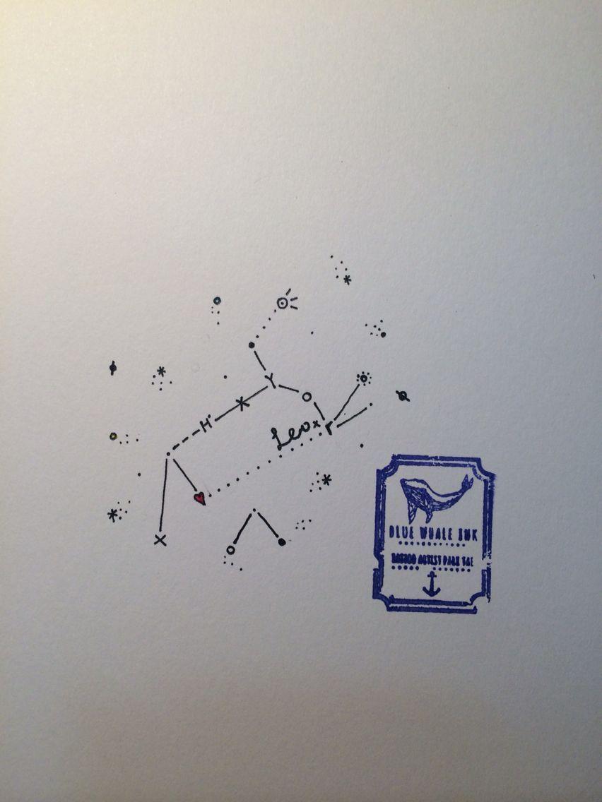 Photo of Leo Constellation Tattoo Design von Blue Whale Ink Design von _park_tae_ Work In …, #blue # …