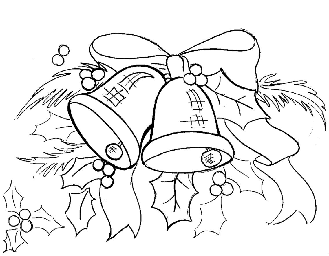 Donald Duck With Jumbled Christmas Decorations Coloring Page
