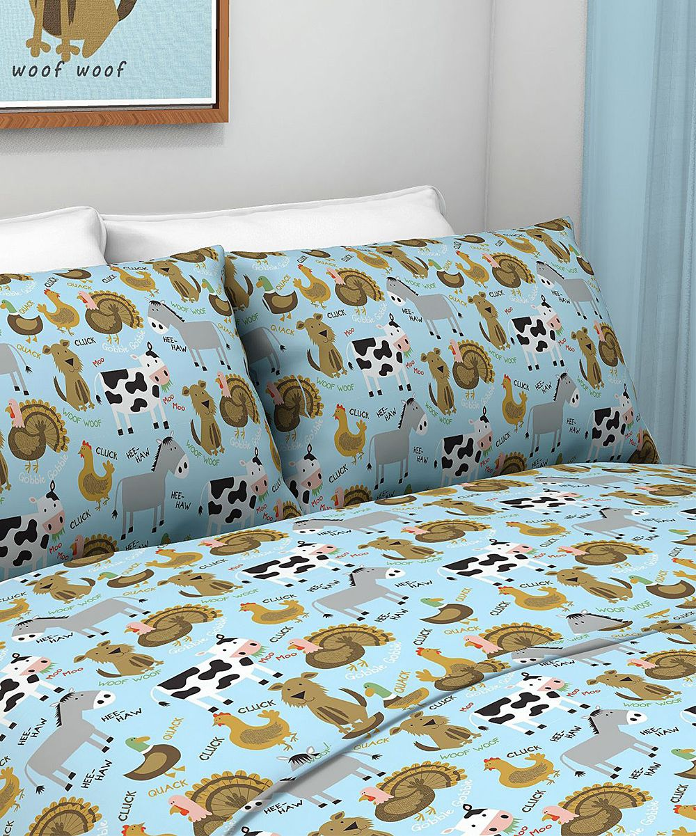 Farm Animal Sheet Set Tuck A Little One In To Supersoft