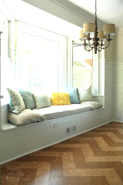how to build a seat in a bay window