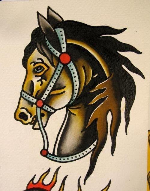 Pharaoh S Horses Traditional Tattoo Horse Horse Tattoo Pegasus Tattoo