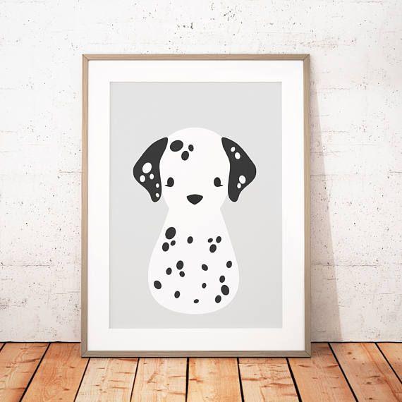 Set of 6 Dalmation Dog Print Cabinet Knobs