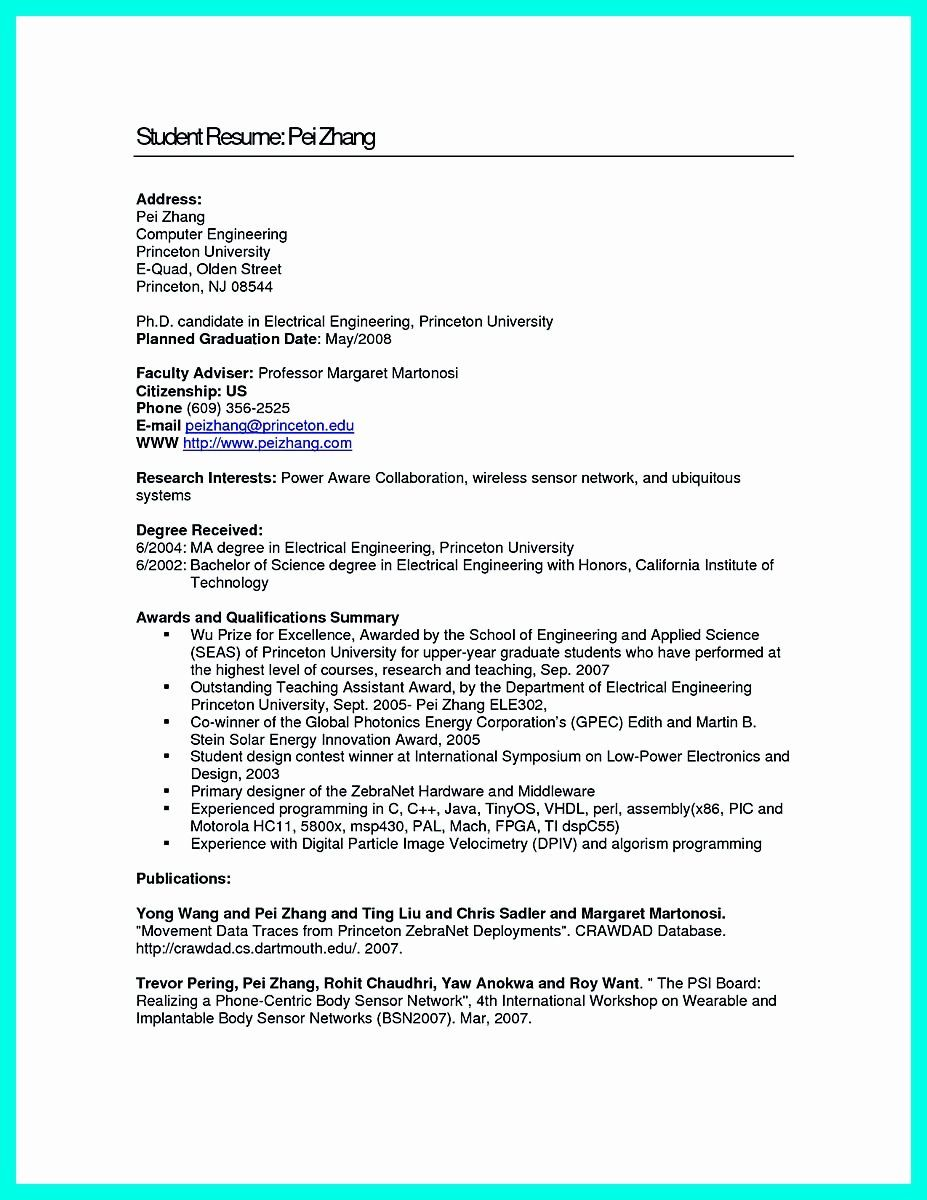 Computer Engineering Resume Examples Unique the Perfect