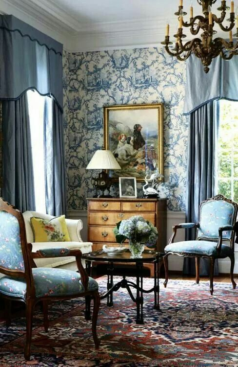 Love The Wallpaper French Country Living Room Country Living Room Home