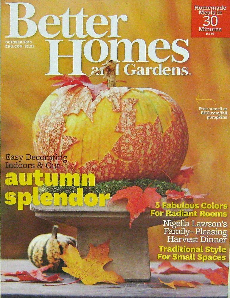 Better Homes And Garden Magazine Featuring Autumn Splendor. We Love  Designing Pumpkins In The Fall!