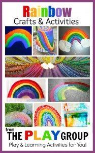 Rainbow Crafts and Activities #rainbowcrafts