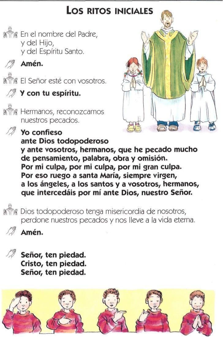 La Misa Explicada Temas De Catequesis Educación Religiosa Católica Santisima Trinidad Para Niños