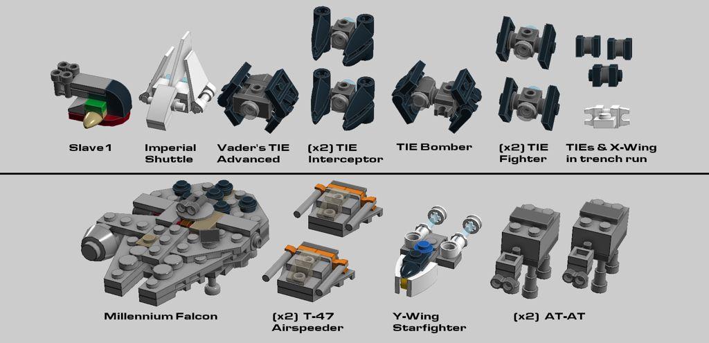 Lego Micro Star Wars Vehicles Lego Ideas Lego Star Wars Mini